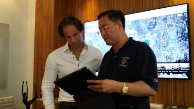 李中子博士与美国大地产开发商shvo商谈曼哈顿最高楼