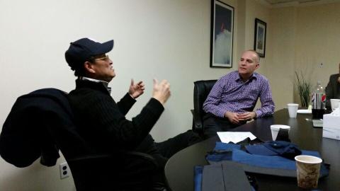 利世通航总裁李中子博士与dennis先生谈国内通航